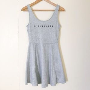 NWOT Minimalism H&M Divided fit and flare dress